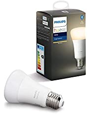 Philips Hue Bombilla Inteligente LED E27, con Bluetooth, Luz Blanca Cálida, Compatible con Alexa y Google Home