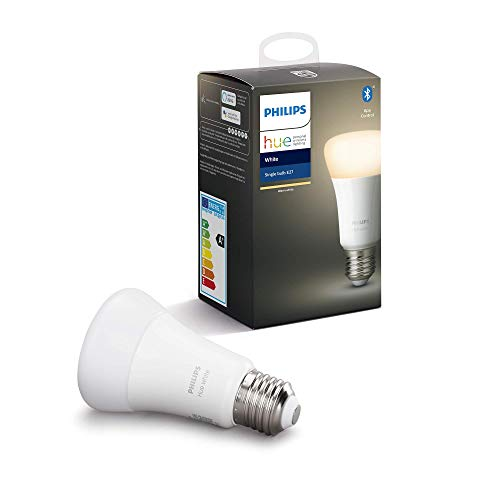 Philips Hue Bombilla Inteligente LED E27, con Bluetooth, Luz...