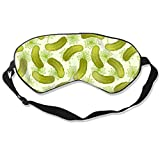 Dill Pickles Silk Sleep Mask with Adjustable Strap Soft Eye Cover Eyeshade for Full Night's Sleep, Travel and Nap