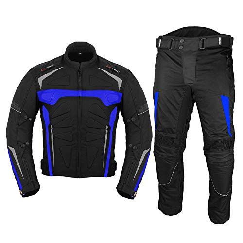 Moto impermeable motocicleta armadura Racing Bike Rider todo el tiempo usando traje de 2 piezas para hombres niños azul - 6XL