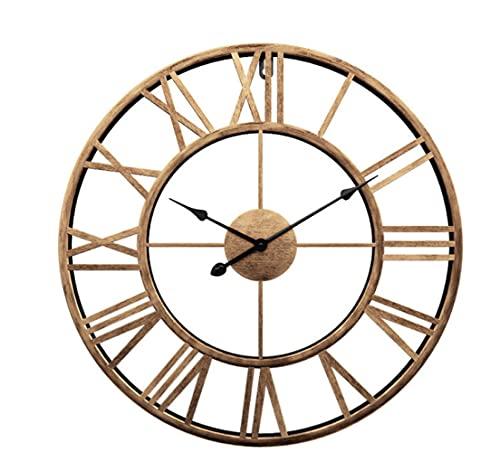 Reloj De Pared Roman Reloj De Pared Simple Sala De Estar Reloj De Silencio Decoración Creativa Reloj De Pared De Hierro