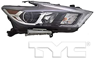 CarLights360: Fits 2016 2017 Nissan Maxima Headlight Assembly Passenger Side (Right) DOT Certified w/Bulbs LED on Low Beam Type - Replacement for NI2503240