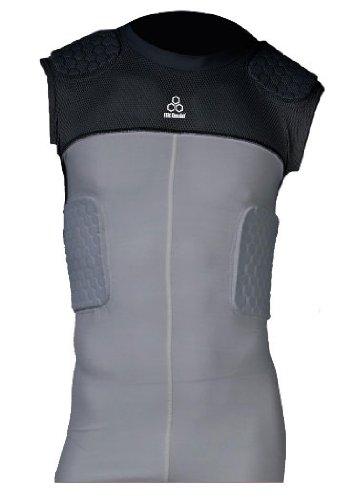 McDavid Youth HexPad 5 Pad Sleeveless Body Shirt (Grey, Large)
