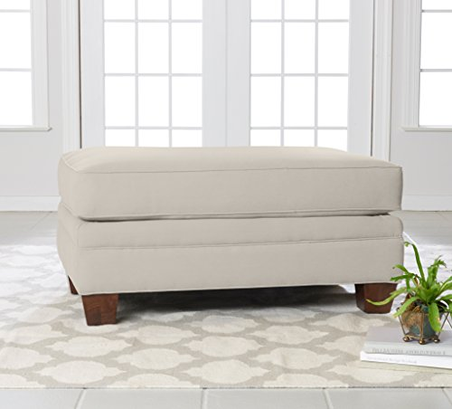 """Klaussner Home Furnishings Paxton Sofa with 4 Throw Pillows, 44""""L x 99""""W x 31""""H, Sand"""