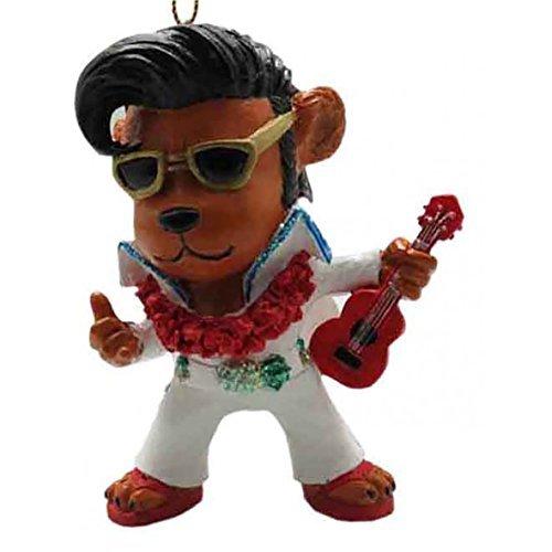 KC Hawaii Elvis Bear Ornament 3' X 2'