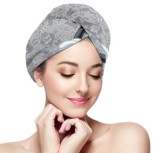 Hair Towel Wraps For Women Girl, Mickey Mouse Microfiber Salon Towel, Anti Frizz Fast Dry Bath Loop Fasten Salon Dry Hair Hat Turban Twist