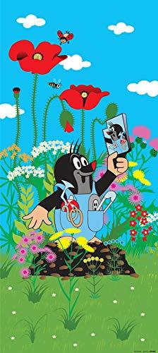 1art1 Der Kleine Maulwurf - Krtek and The Mirror Vlies Wand-Foto-Poster-Tapete | Moderne Dekoration Wand-Deko Wohnzimmer Schlafzimmer Büro Flur 202 x 90 cm