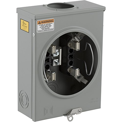 Square D by Schneider Electric UHTRS101B 125A Ringless Overhead/Underground Meter Socket With Horn Bypass
