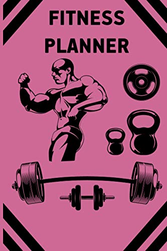 Fitness Planner: Fitness bike Fitness Tracker for men and women Fitness workout Fitness with Blood Pressure Fitness log Journal Fitness Jump rope for ... weekly and monthly fitness planner for men