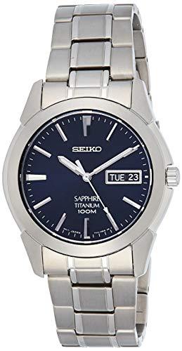 Seiko Herren Analog Quarz Uhr mit Titan Armband SGG729P1