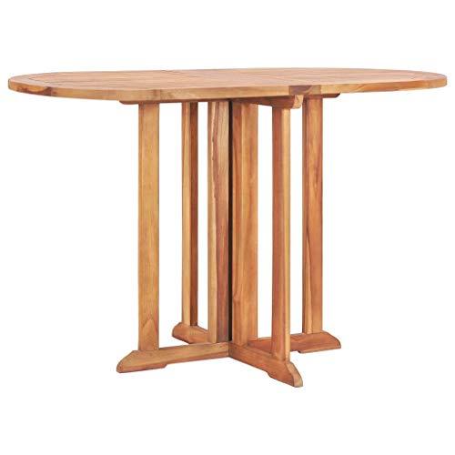 vidaXL Teak Massiv Schmetterling Gartentisch Klappbar Esstisch Klapptisch Holztisch Tisch Gartenmöbel Balkontisch Teaktisch 120x70x75cm