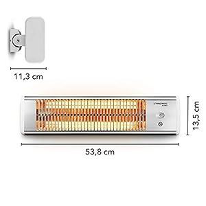 TROTEC IR 1200 S Infrarotstrahler Heizstrahler Terrassenstrahler 1.200 Watt 2 Heizstufen