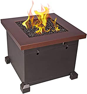 Camp Chef Santa Fe Fire Table (FP30) with 600D Nylon Water Resistant Table Cover (PC30) - Bundle
