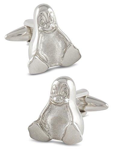 ZAUNICK Tux Pinguin Manschettenknöpfe Silber 925 handgefertigt