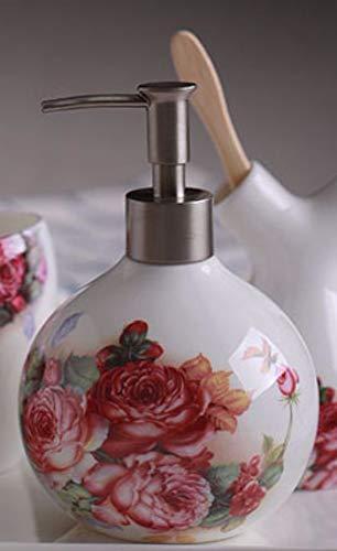 Dispensador De Jabón,Blanco Hueso Cerámica China Oriental Original Diseño Vintage Retro Mano...