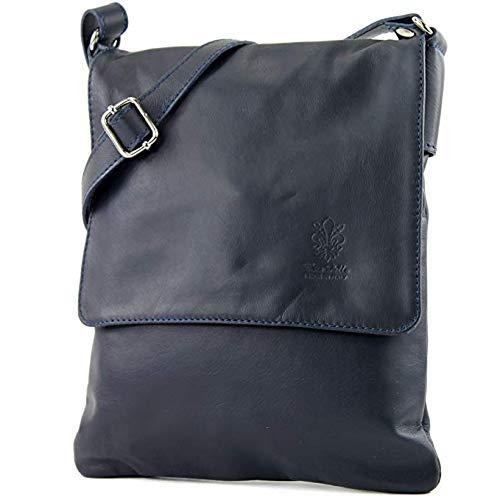 Craze London Genuine Italian Leather Verapelle Cross body Messenger Bag/Womens Ladies Verappele hand Bags (navy)