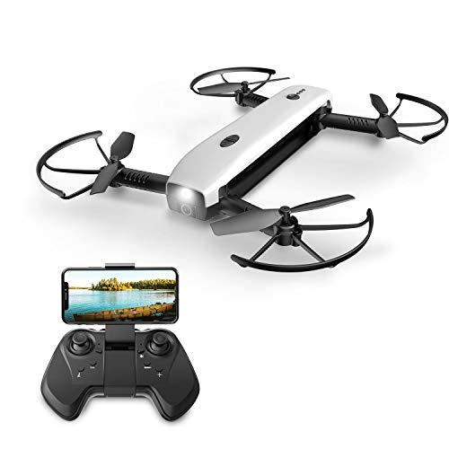 Eanling HS161 FPV Mini RC Drohne faltbar mit HD Kamera1080P,Live Übertragung,Quadcopter ferngesteuert mit WiFi videi,Langer Flugzeit,Höhenhaltung,Headless Modus, Scheinwerfer und Powerbank-Funktion