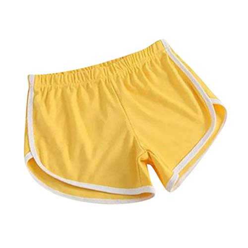 Inawayls Damen Sport Shorts Retro Shorts Aktiv Yoga Shorts Hose mit Farbig Abgesetzen