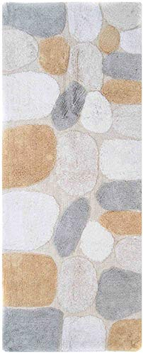 Chesapeake Merchandising Pebbles Cotton 24 in x 60 in Bath Runner, Spa