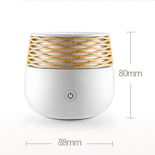 Duftdiffusor Neuer Luftreiniger Ätherisches Öl Aromadiffusor Ultraschall Luftbefeuchter Led Warme Lichter Elektrischer Mini Usb Mist Maker-Weiß