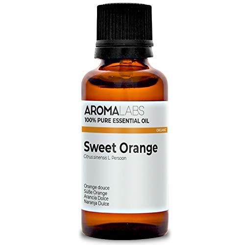Naranja Dulce BIO - 30ml - Aceite esencial 100% natural y BIO - calidad verificada por cromatografía - Aroma Labs