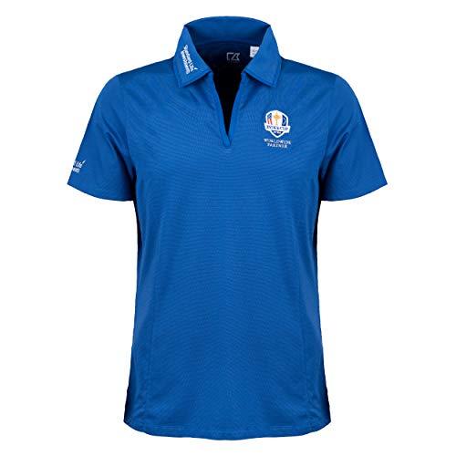 Dry Tec Cutter & Buck Ryder Cup Polo pour femme Bleu, blanc, m