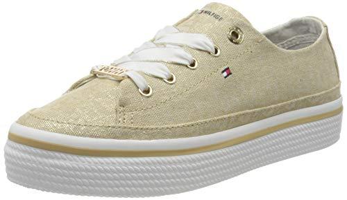 Tommy Hilfiger Damen Flatform Sneaker, Beige (Stone Aep), 38 EU