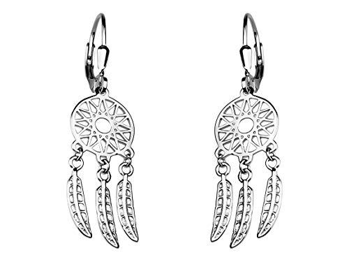 SOFIA MILANI Damen Ohrringe Ohrhänger Traumfänger Silber 20450