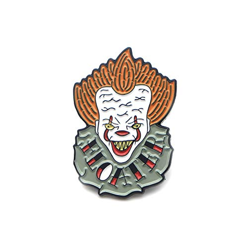 Movies Clown Brooch Enamel Pins Button badge Best Gift for Boys Girls Women and Men Backpack Bags Lapel Pin (One clown)