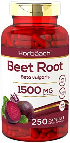 Beet Root Powder Capsules 1500mg 250 Pills Herbal Extract Gluten Free Non GMO Supplement by product image