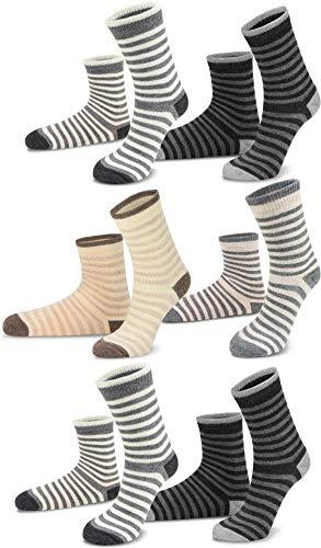 Circle Five 2, 4 oder 6 Paar warme Winter Kindersocken Schafwollsocken mit Alpaka- und Schafwolle für Mädchen und Jungen Farbe 6 Paar Größe 27-30