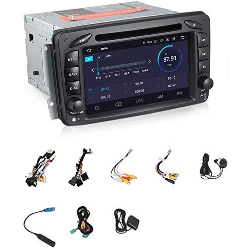 TOOGOO Reproductor de DVD para Coche Android 9.0 de 7 Pulgadas para Mercedes CLK W209 W203 W463 W208 WiFi 3G GPS Radio EstéReo Medios de Audio