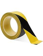Cinta de Advertencia Cinta Antideslizante Seguridad Amarillo y Negro Cinta de Señalización Para Escaleras 33 M x 50 mm