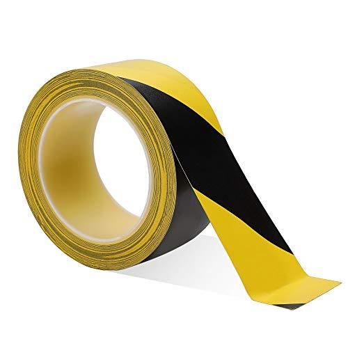 Cinta de Advertencia Cinta Seguridad Amarillo y Negro Cinta de Señalización Para Escaleras 33 M x 50 mm