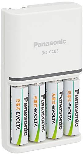 パナソニック 単3形 充電式エボルタ 4本付充電器セット K-KJ83MLE40