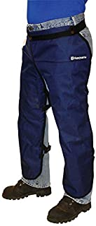 Husqvarna 531309565 Chain Saw Apron Chaps, Gray/Blue