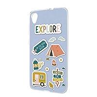 ハードケース スマホケース ZenFone Live L1 (ZA550KL) 用 [キャンプ・ブルー] アウトドア ASUS アスース ゼンフォン ライブ エルワンSIMフリー スマホカバー 携帯ケース 携帯カバー [FFANY] camp_aam_h210174
