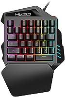HXSJ RGB Mechanisch Gaming Keyboard,eenhandig membraan mini 35 sleutel met USB bekabeld Type-C Professioneel Gaming...