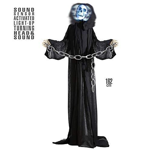 Widmann vd-wdm01408 Grim Reaper animé avec tête pivotante, Noir, Taille Unique
