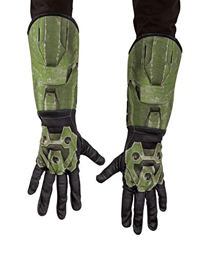 Halo Infinite Master Chief Gauntlets, Kids Costume Accessories, Child Size Video Game Inspired Cloth Gloves with Attached Gauntlet