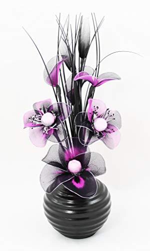 Flourish Ciruela Morado Flores Artificiales Negro