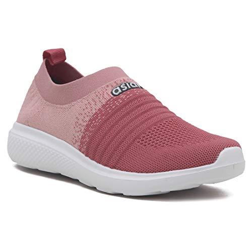 ASIAN Women's Elasto-02 Knitted,Sports,Walking,Slipon Shoes