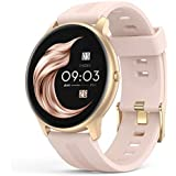 Smart Watch for Women, AGPTEK IP68 Waterproof Smartwatch for Android and iOS Phones Activity Tracker with Full Touch Color Screen Heart Rate Monitor Pedometer Sleep Monitor, Pink