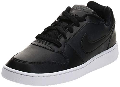 Nike Women's Ebernon Low Sneaker Black/Black/White, 6.5 Regular US
