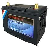 KEPWORTH 12V 60Ah LiFePO4バッテリーディープサイクルリン酸鉄リチウムバッテリーには、新しい充電器が含まれ、RV/キャンプ、ソーラー/バックアップ電源、トローリング、モーター/ 5年保証に最適です。