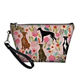 chaqlin Animal Floral Dog Pattern Trapezoid Make Up Bags Clutch Handbags Borse cosmetica