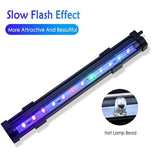 Fashionwu LED 7 Farben ändern Aquarium Licht Fish Bowl Submersible Light Air Bubble Lampe US-Vorschriften