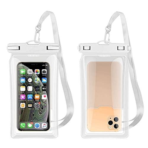 LGLG Funda impermeable para teléfono móvil sumergible – 6,8 pulgadas, doble sellado, resistente al agua, para la mayoría de los teléfonos móviles, universal IPX8, resistente al agua (blanco)