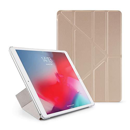 iPad Pro 10.5 Hülle, Pipetto 5 in 1 Faltende Klar Zurück Schutzhülle mit Auto Aufwachen / Schlaf Funktion für Apple iPad Pro 10.5 - Champagner Gold und Klar