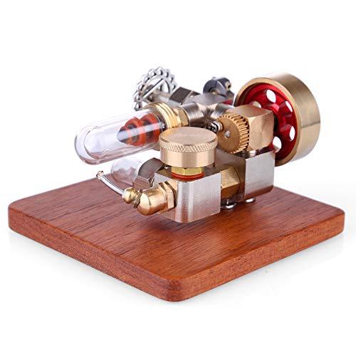 CT-Tribe Stirlingmotor, Mini-Heißluft-Stirling-Motormodell mit Einstellbarer Geschwindigkeit, Stem Spielzeug und Wissenschaft Motor Kit